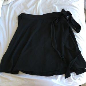 American Apparel Demi Wrap Skirt, Black